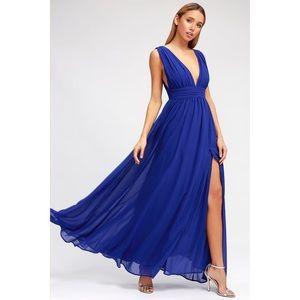 Lulus Heavenly Hues Royal Blue Maxi Dress